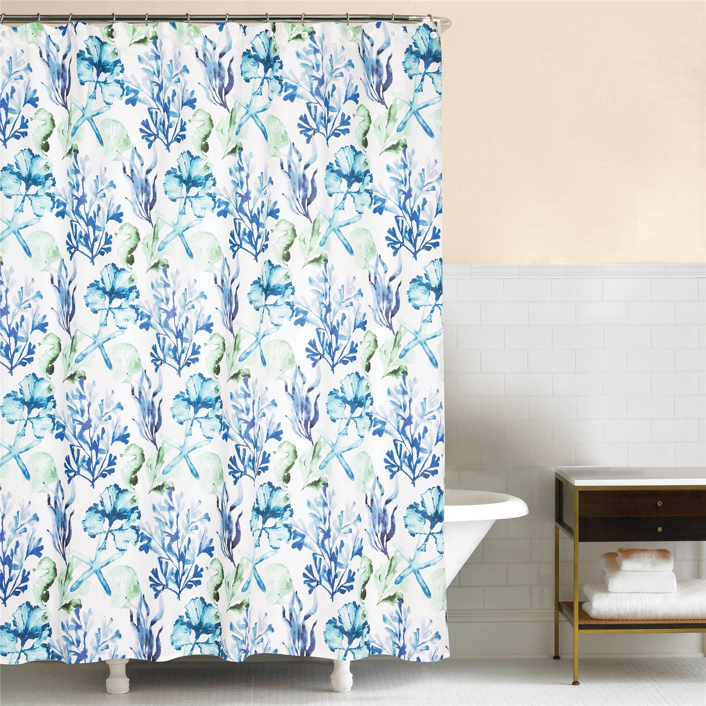 Bluewater Bay Shower Curtain