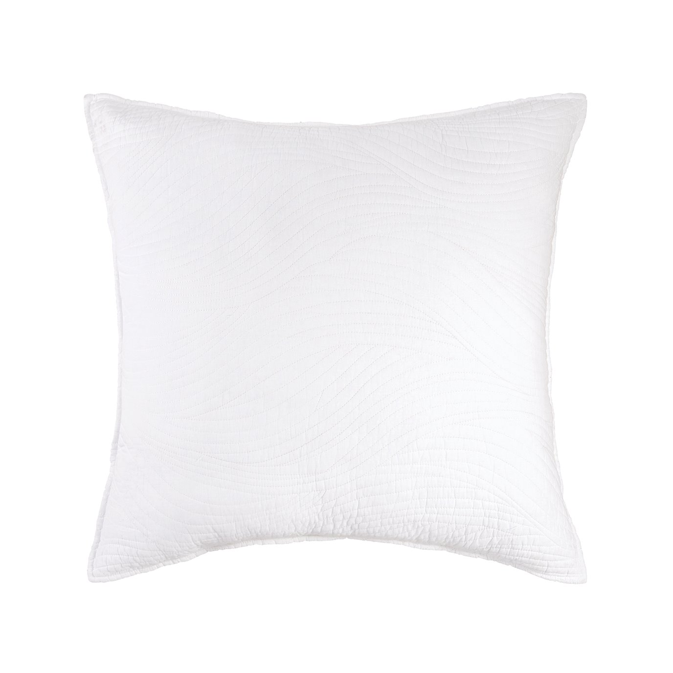 Tranquil Waves White Euro Sham