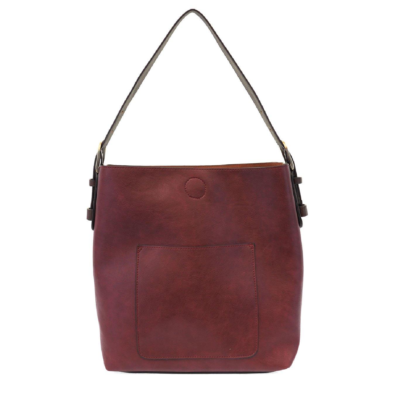 Merlot Hobo Handbag with Coffee Handle