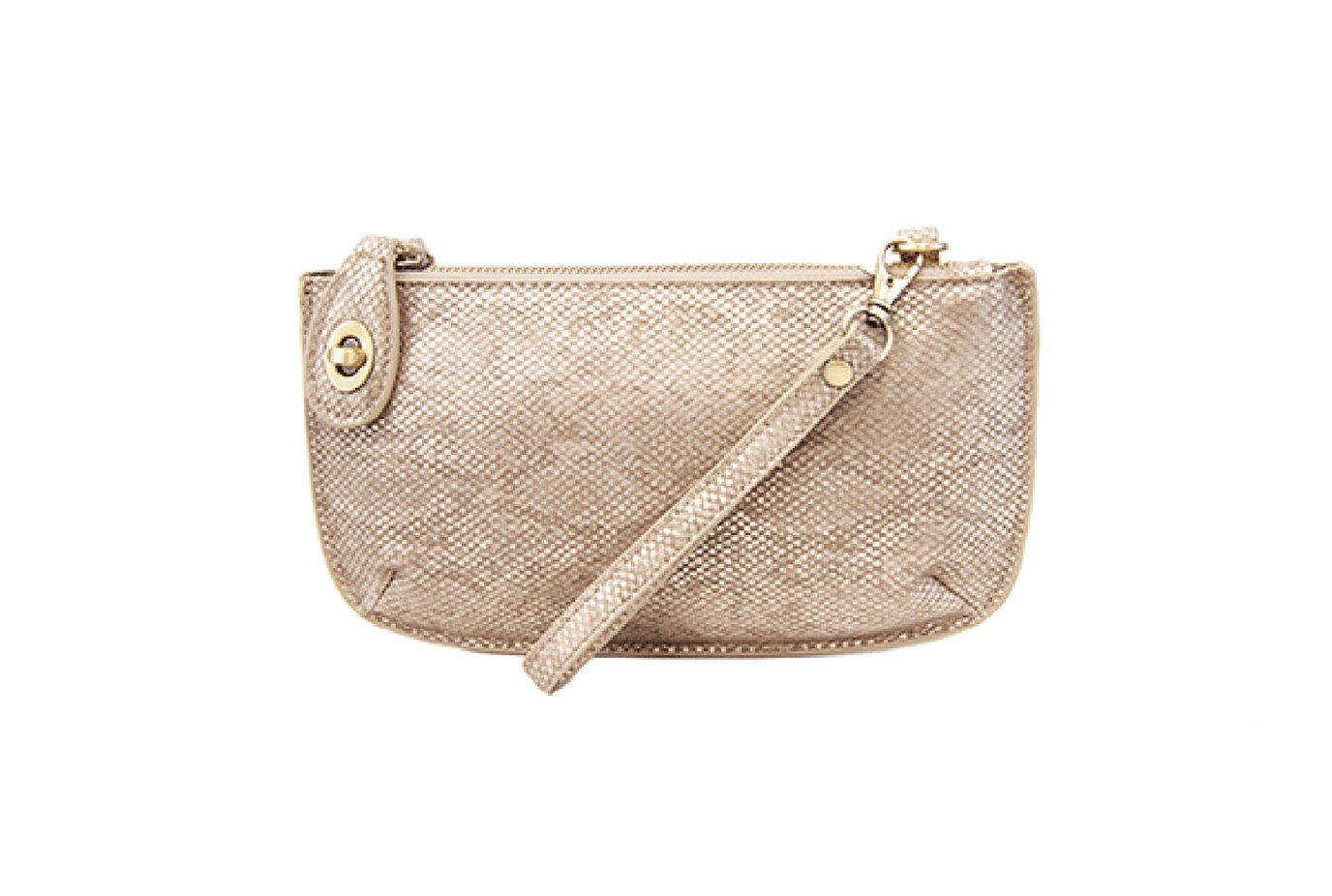 Natural Python Crossbody Wristlet Clutch