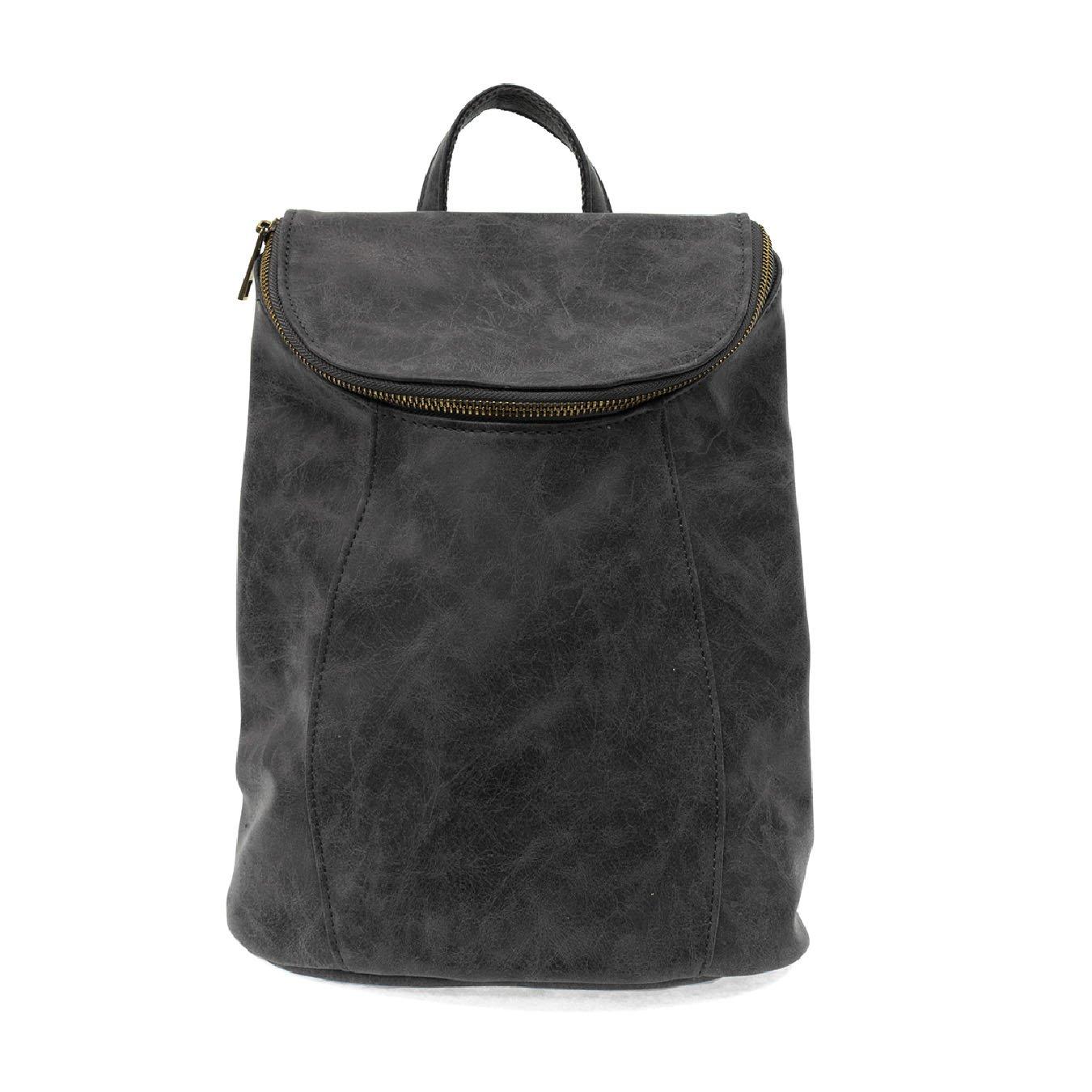 Black Alyssa Distressed Backpack