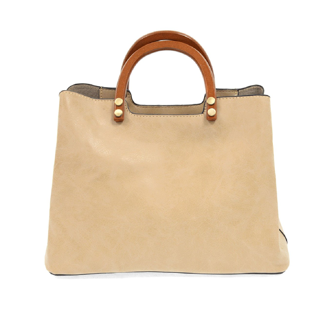 Oat Angie Vintage Satchel with Wood Handles