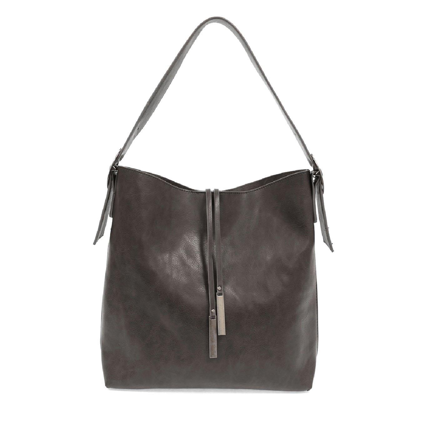 Charcoal Jillian Hobo Handbag with Tassel
