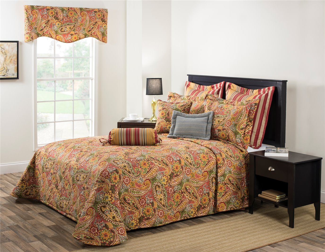 Breeze Tapestry Queen Bedspread