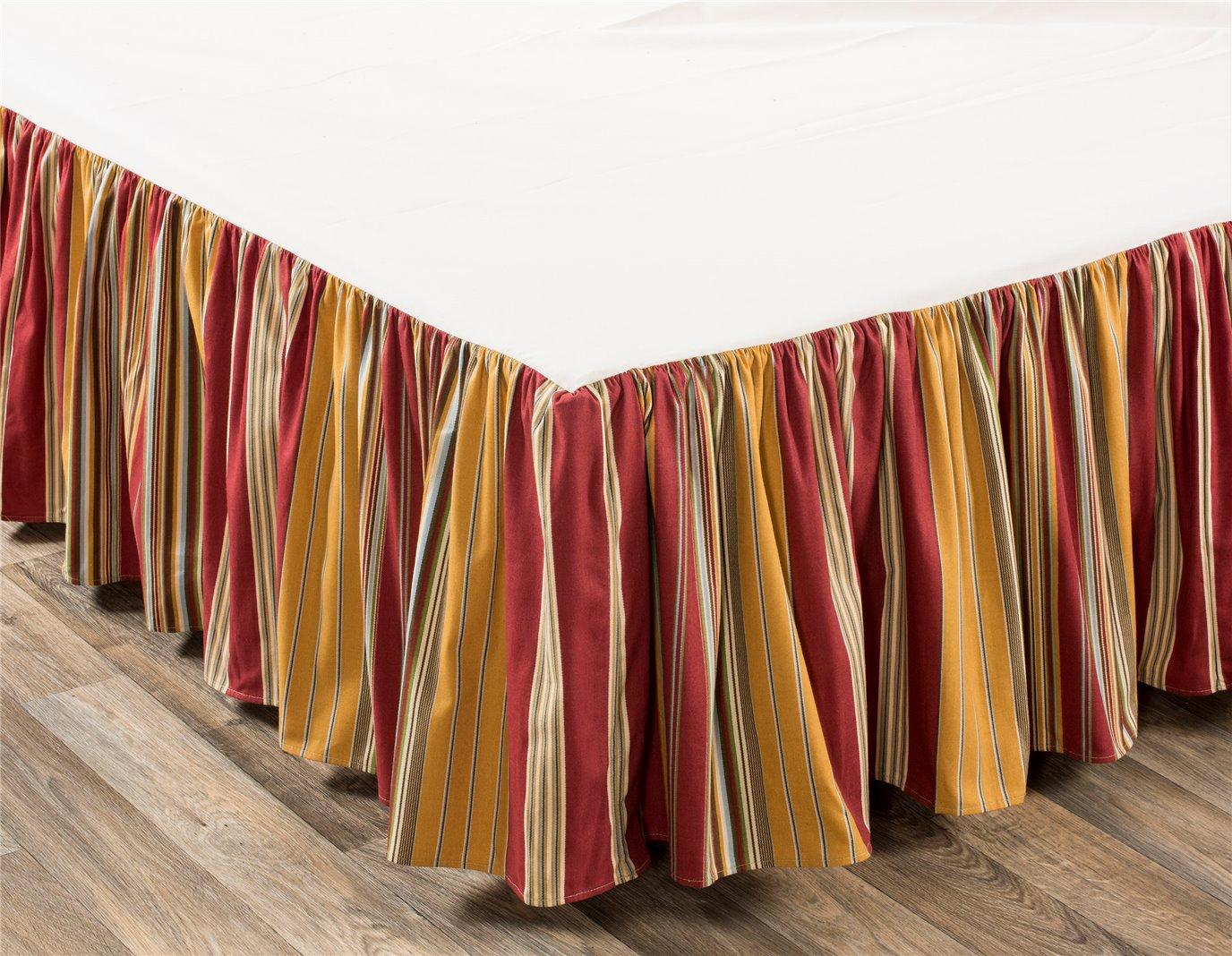"Breeze Tapestry King 18"" Drop Bedskirt"