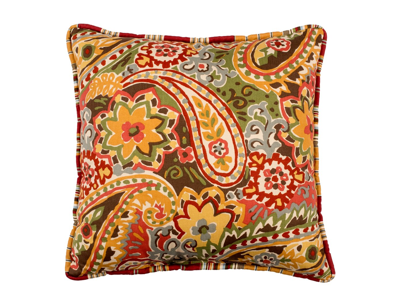 Breeze Tapestry Print Square Pillow