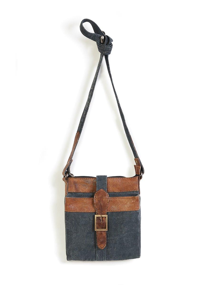 Mona B. Intermix Crossbody Bag - Admiral