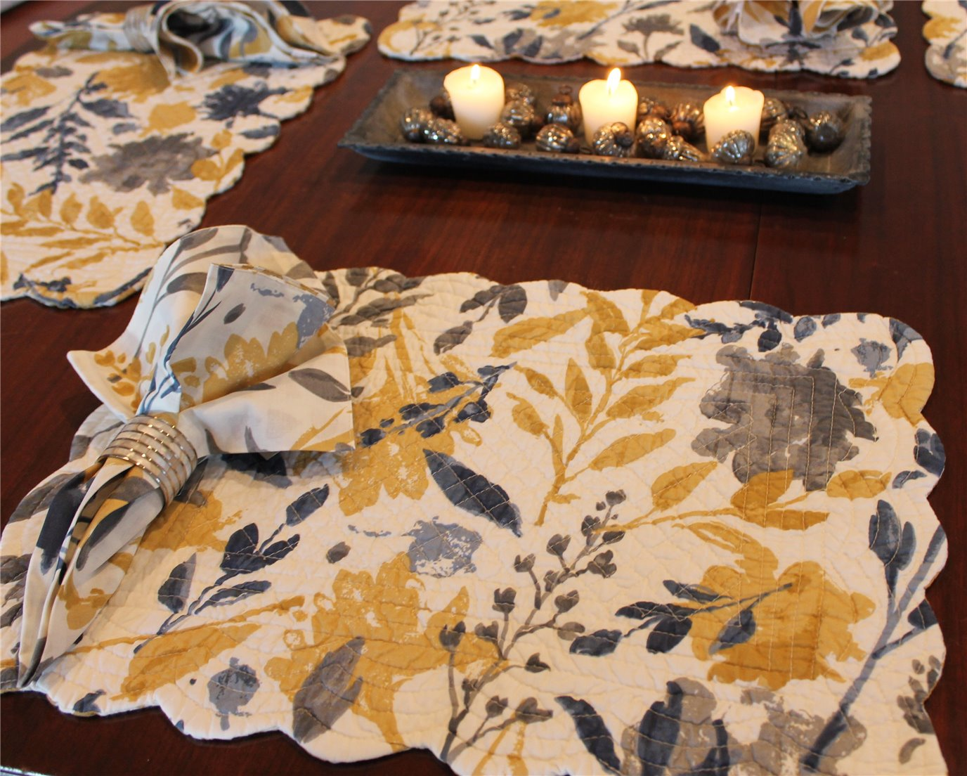 Natural Home Rectangular Quilted Placemat By Tag Living By C Amp F Home