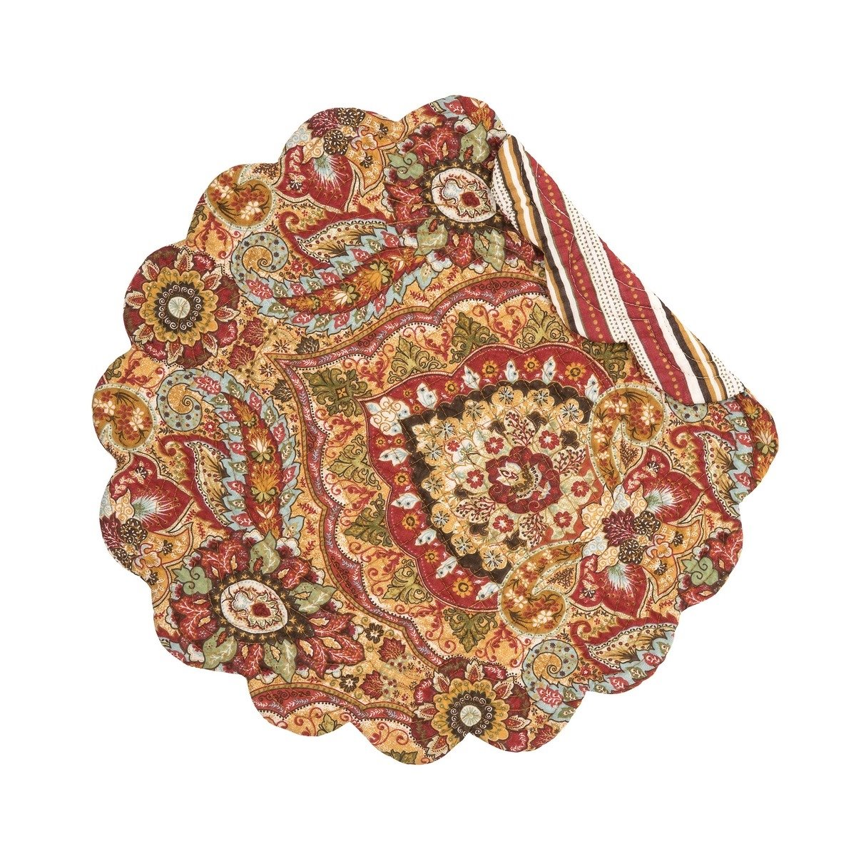 Mirabelle Round Quilted Placemat