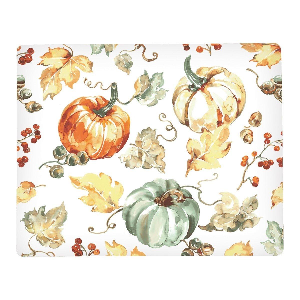 Watercolor Pumpkin Rectangular Hardboard Placemat