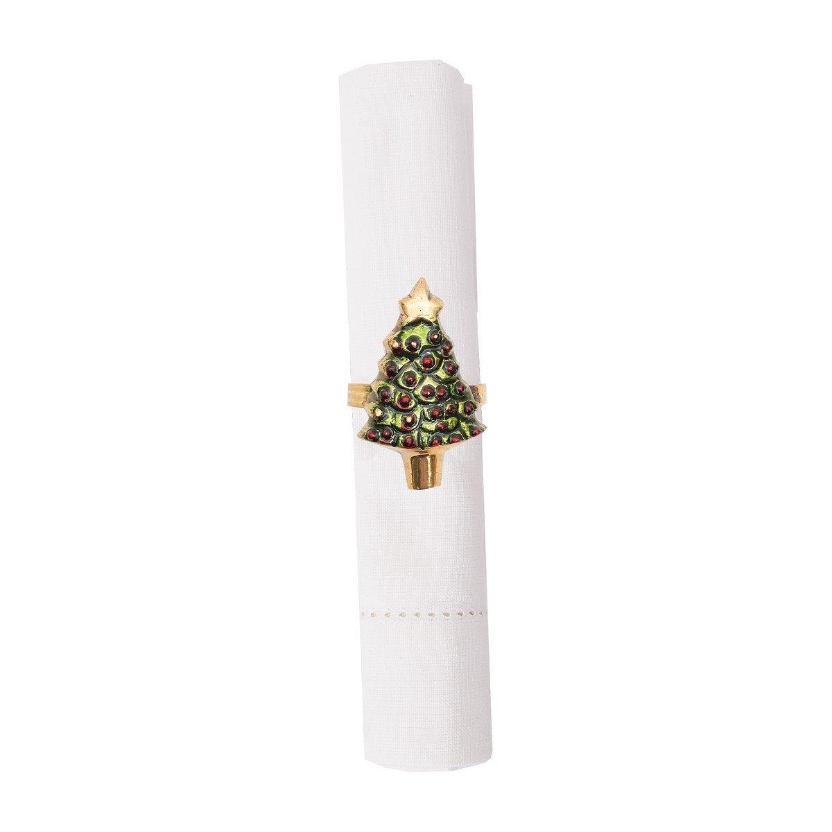 Painted Christmas Tree Napkin Ring
