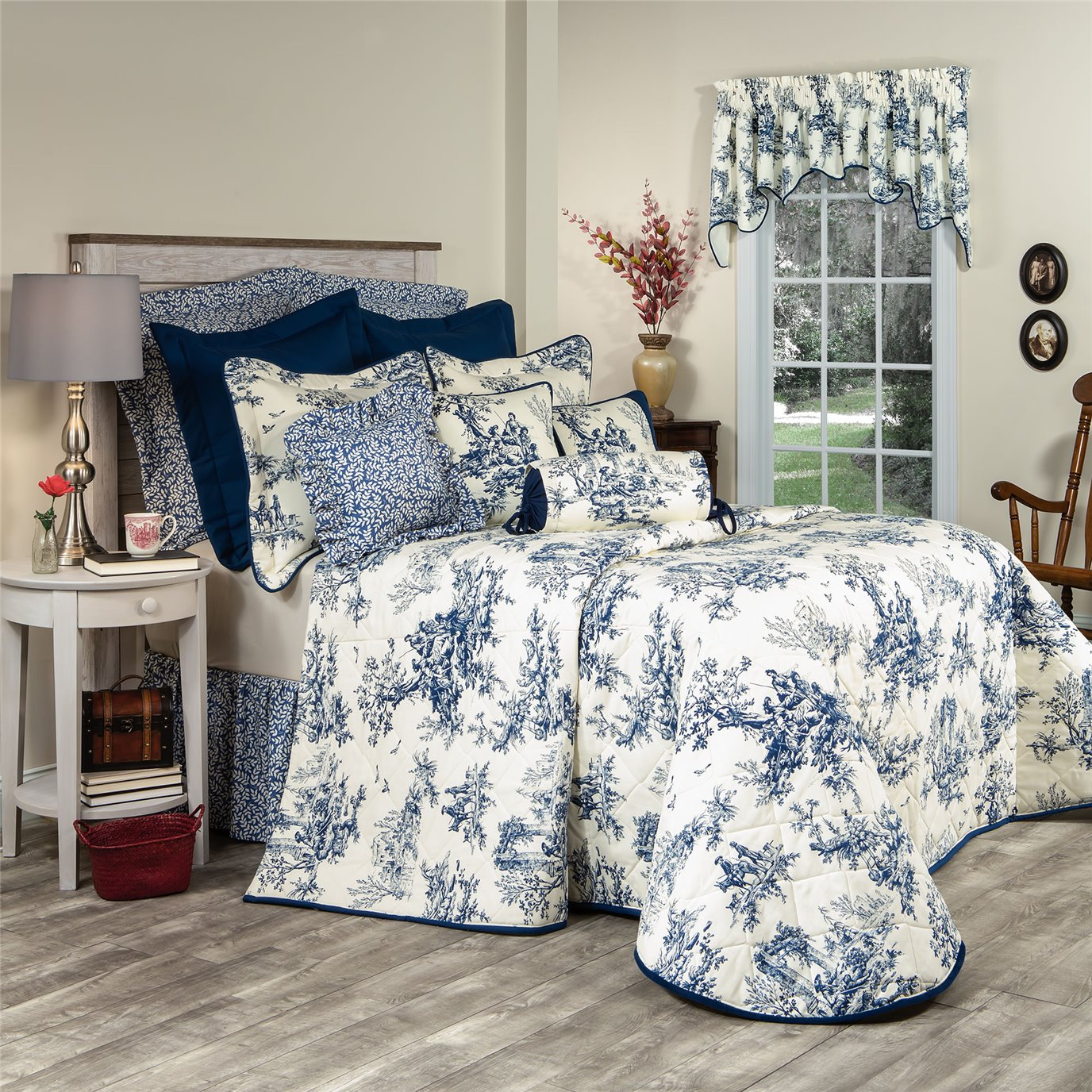 Bouvier Blue California King Bedspread By Thomasville Home Fashions