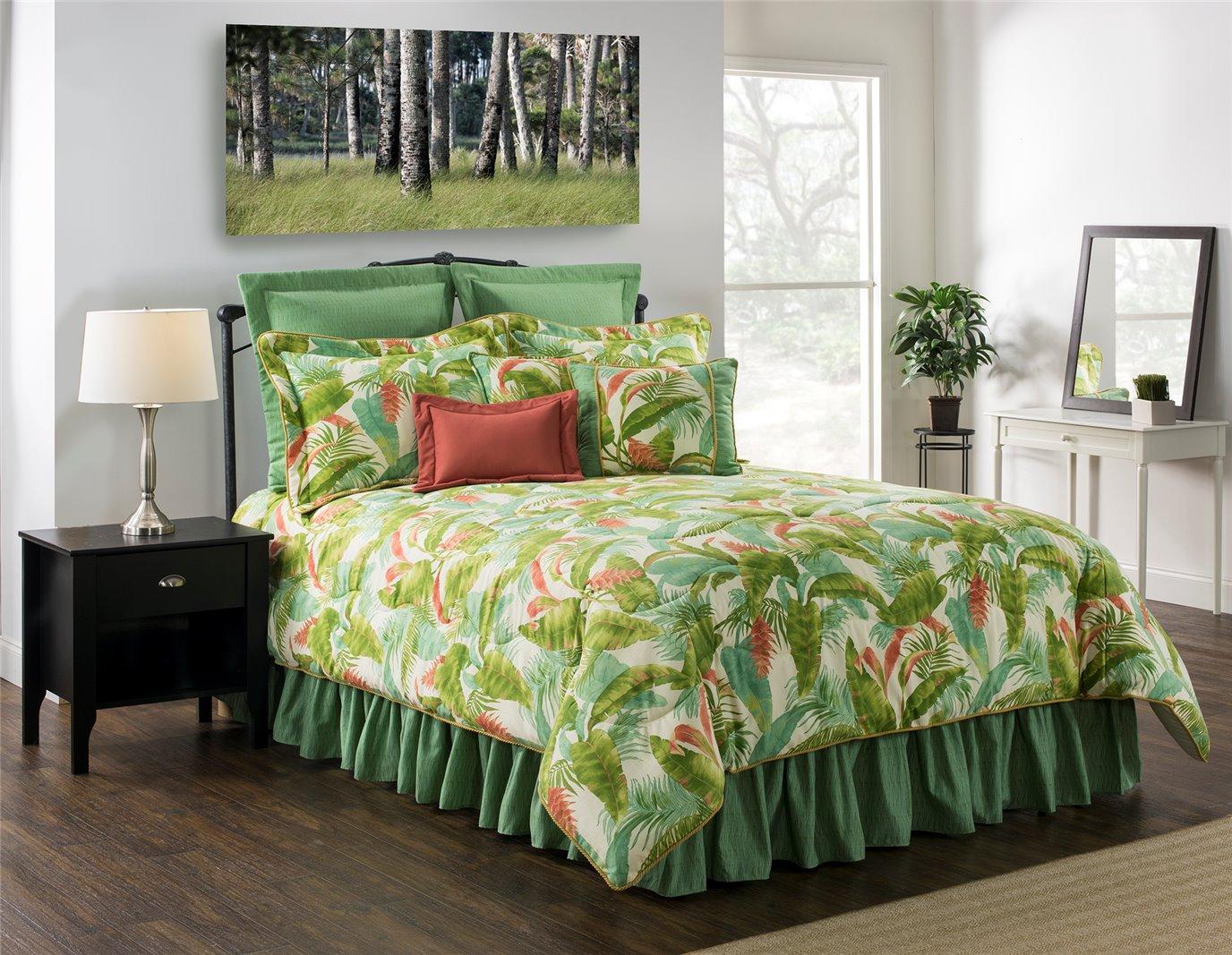 """Cape Coral Queen Comforter Set (w/18"""" Bedskirt)"""