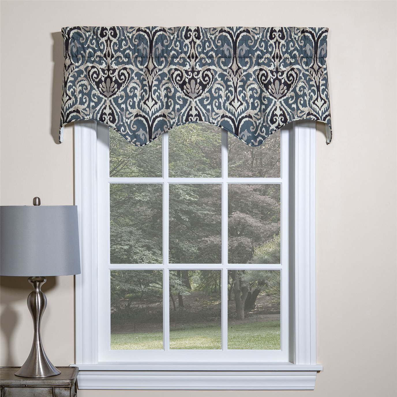 Midnight Ikat Empress Filler Valance