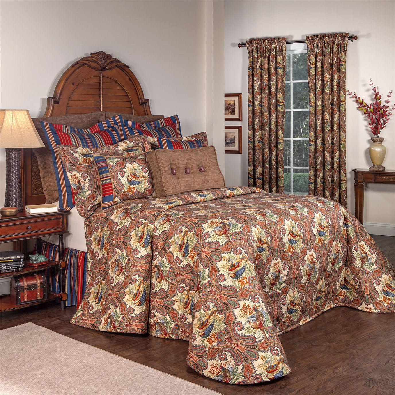 Royal Pheasant Queen Bedspread
