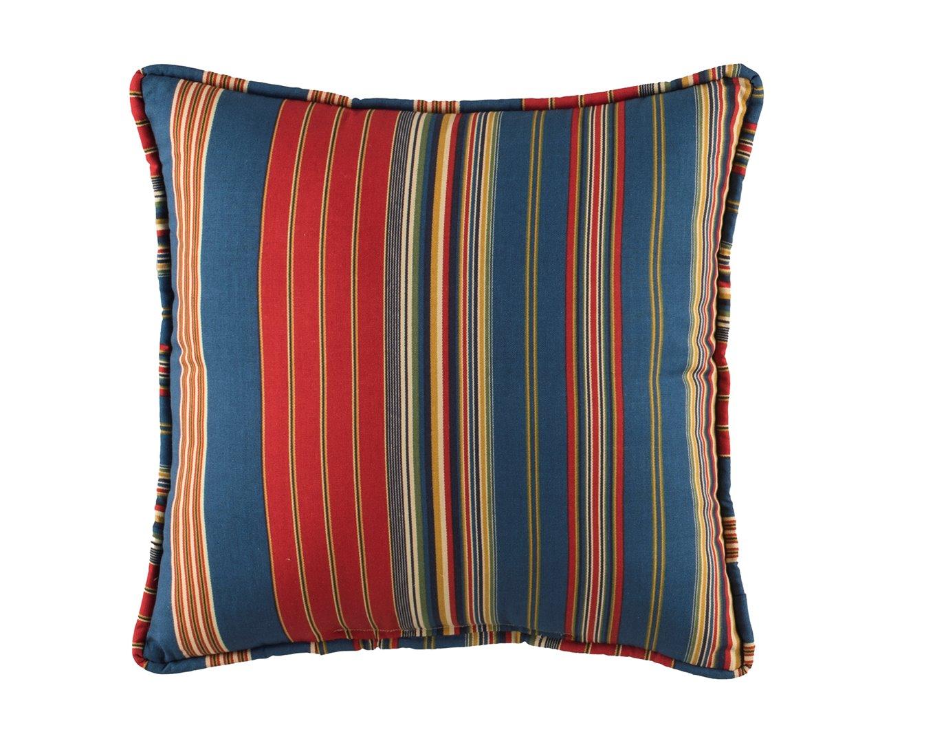 Royal Pheasant Stripe Square Pillow