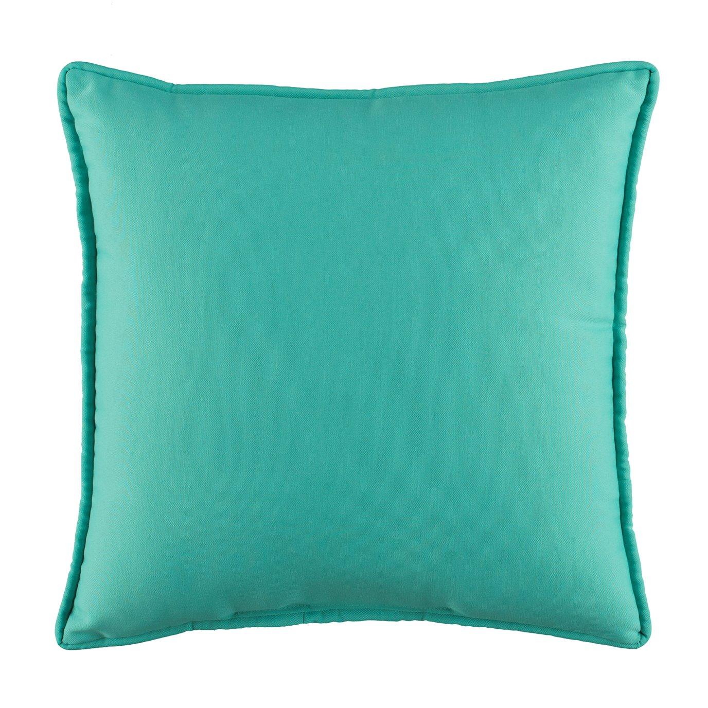 Floridian Flamingo Solid Blue Square Pillow