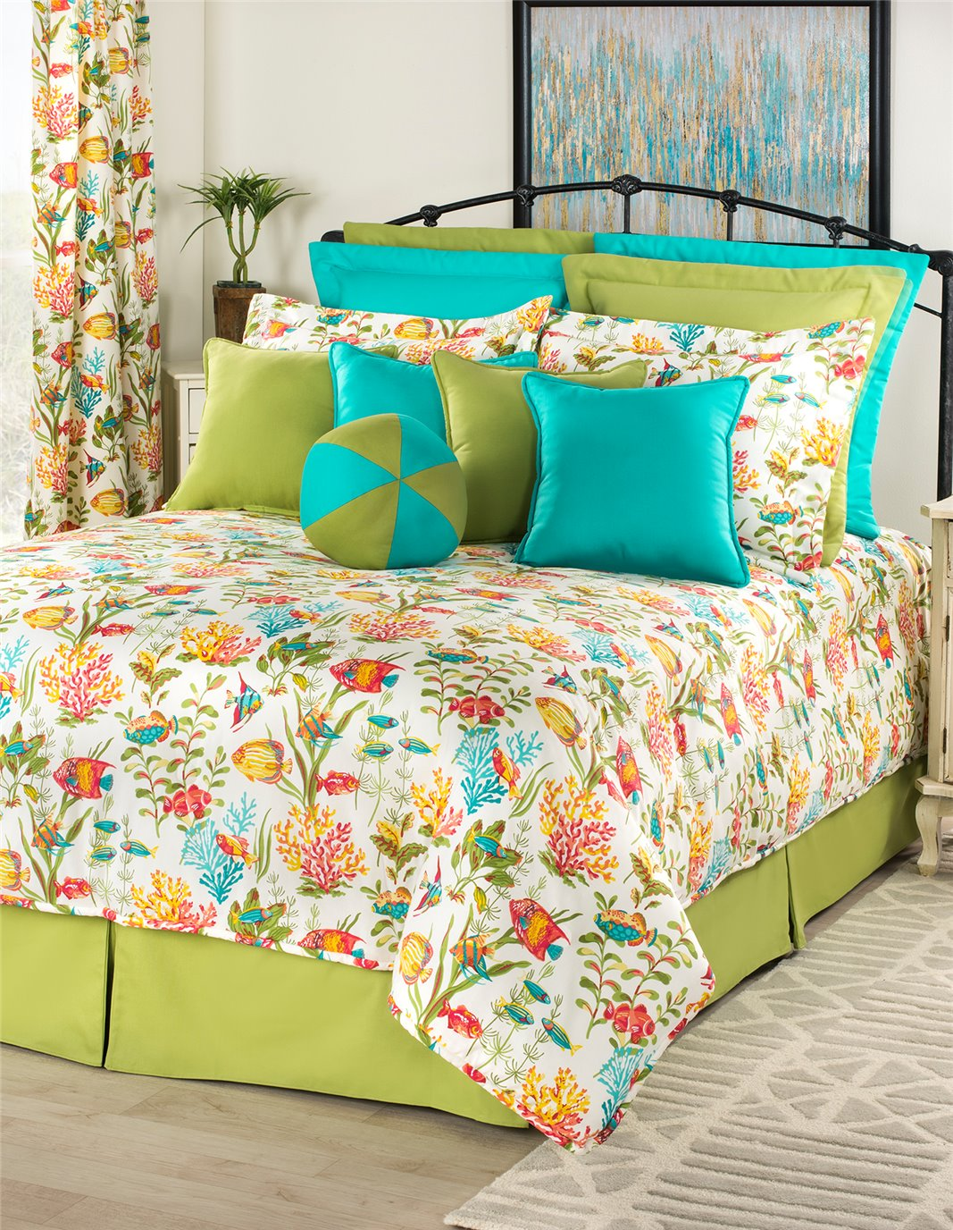 "In the Sea Twin Comforter Set (15"" Drop Bedskirt)"