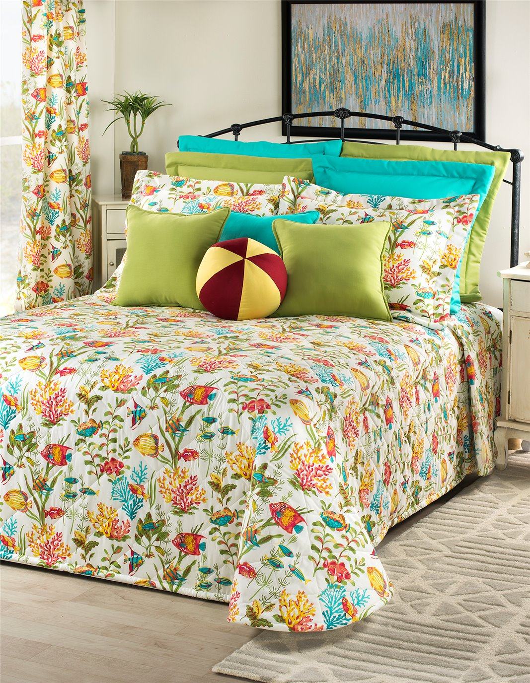 In the Sea California King Bedspread