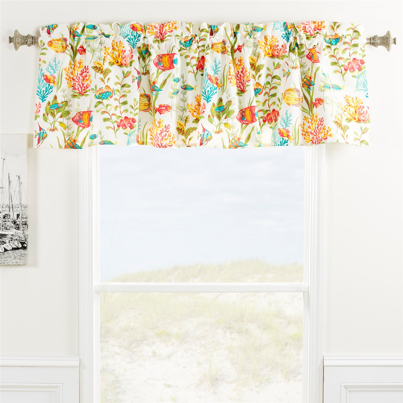 In the Sea Tailored Valance
