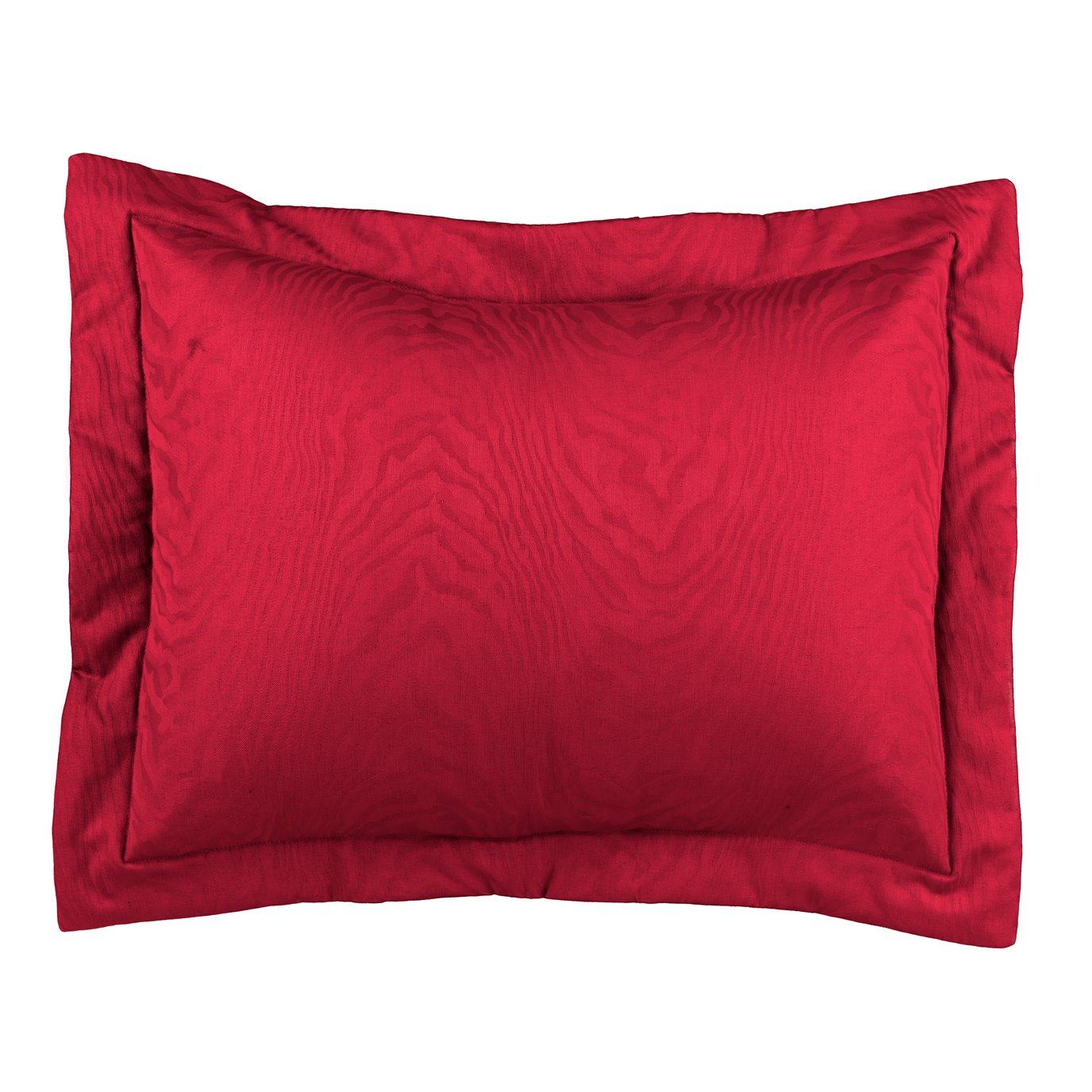 Red Moire King Sham