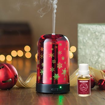 Essential Oil Diffuser Snowfall by Airomé with Claire Burke Christmas Memories Fragrance Oil