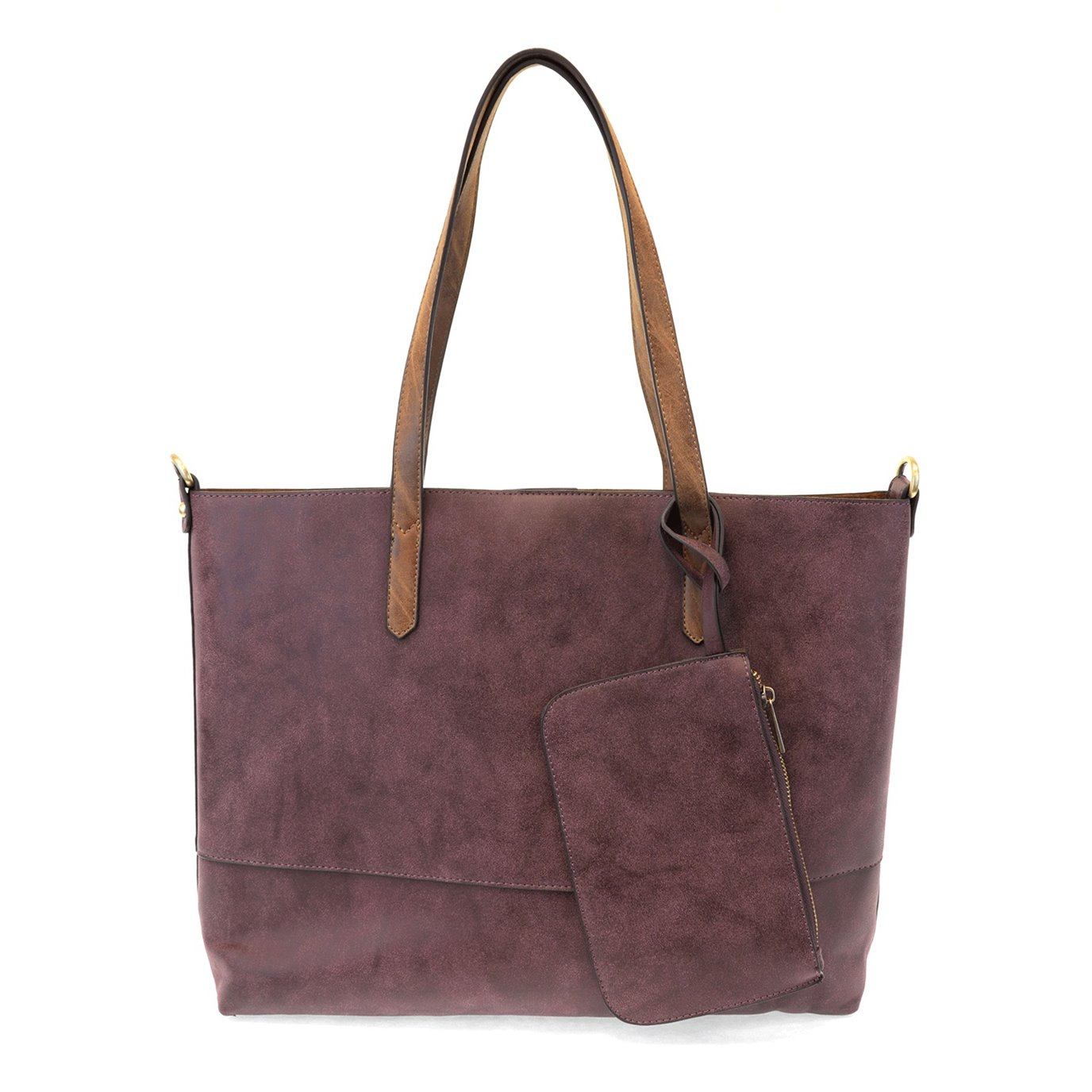 Brushed Aubergine 2-in-1 Tote