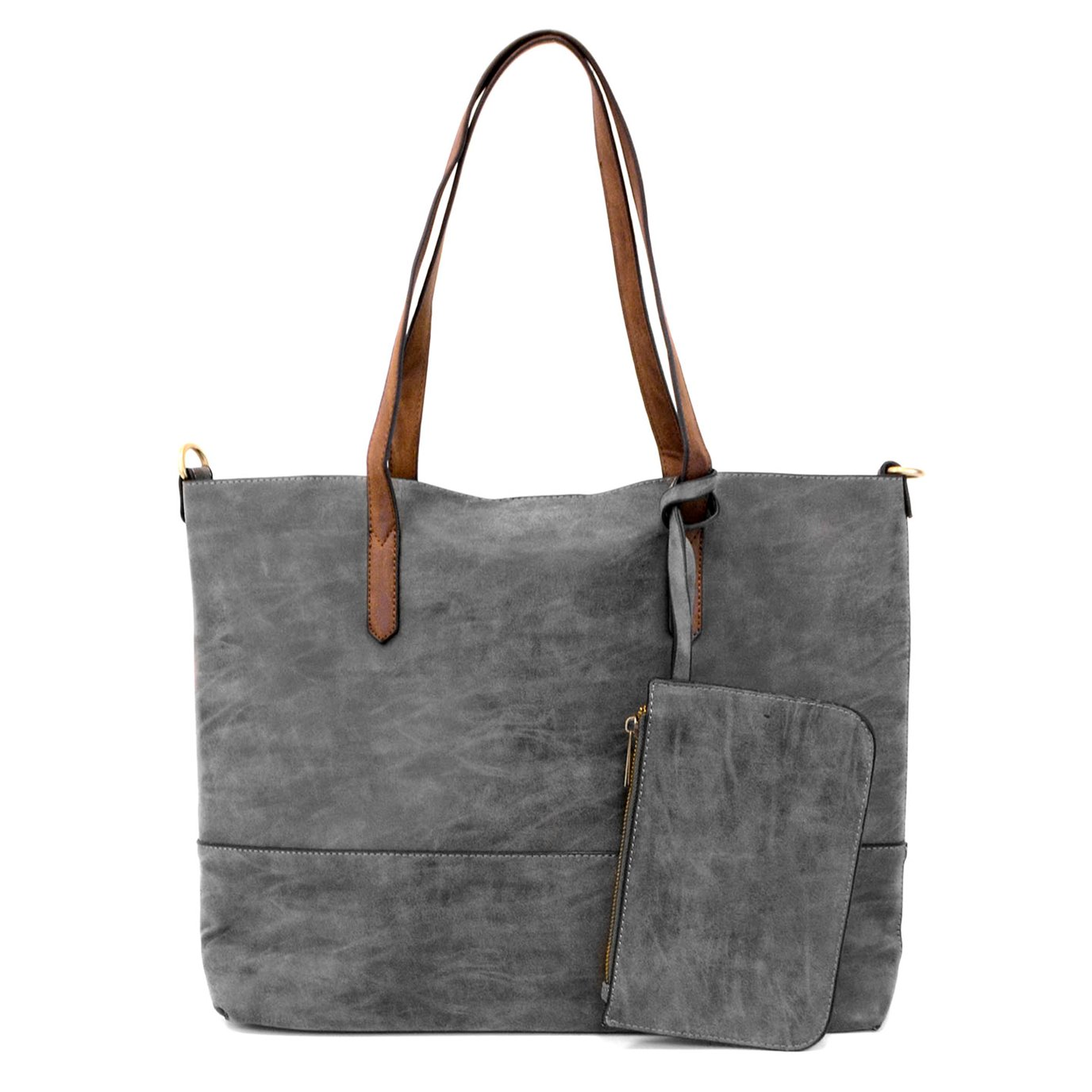 Brushed Charcoal 2-in-1 Tote