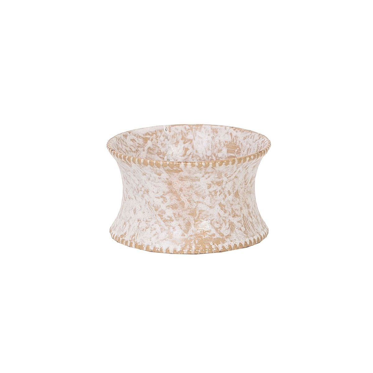 Whitewashed Metal Napkin Ring