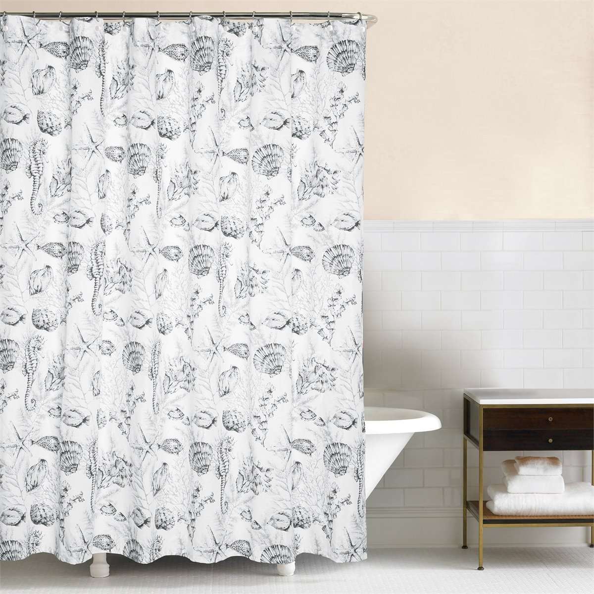 Fenwick Isle Gray Shower Curtain