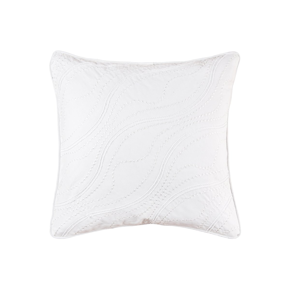 Wave Embroidered Square Pillow