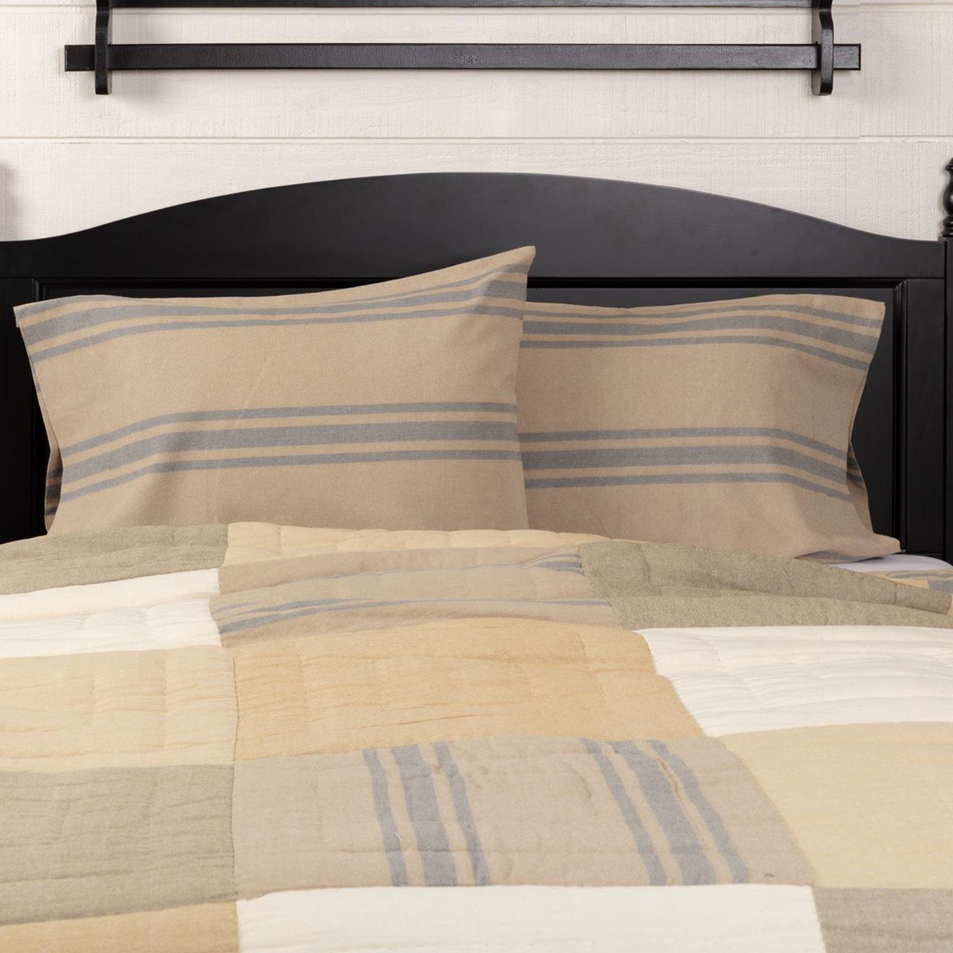 Farmer's Market Grain Sack Stripe Standard Pillow Case Set of 2 21x30