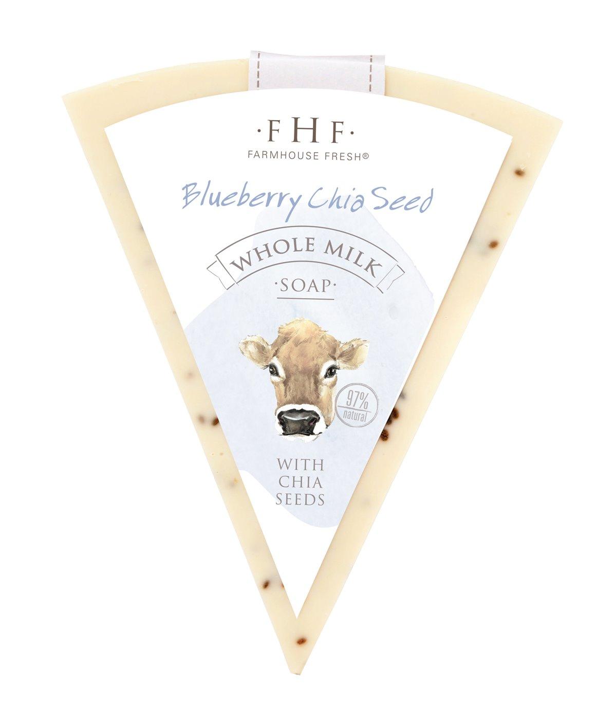 Farmhouse Fresh Blueberry Chia Seed Whole Milk Bar Soap