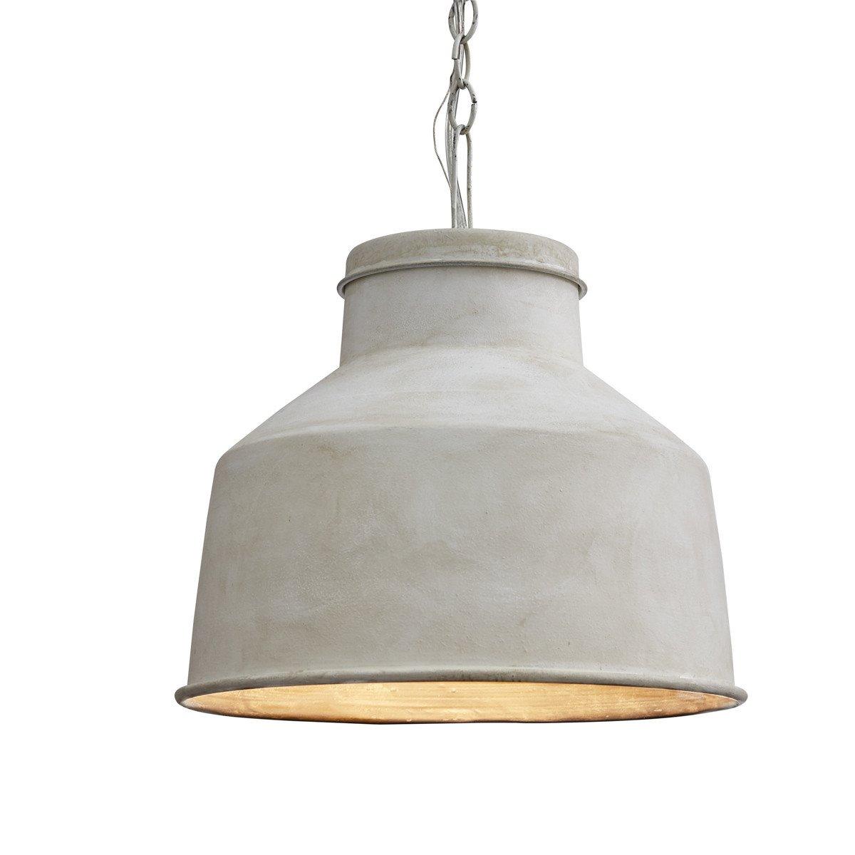 Cream Galvanized Pendant Light