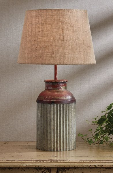Crimped Canister Lamp with Shade