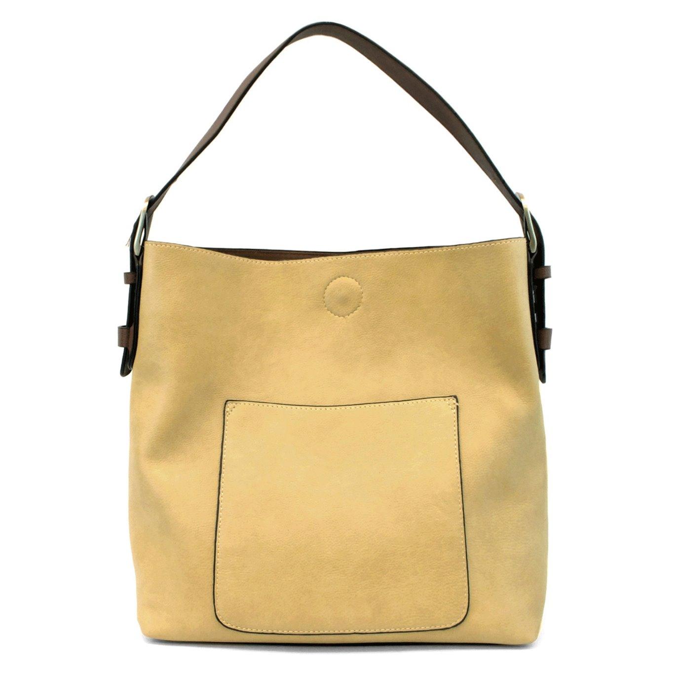 Celadon Hobo Handbag with Brown Handle
