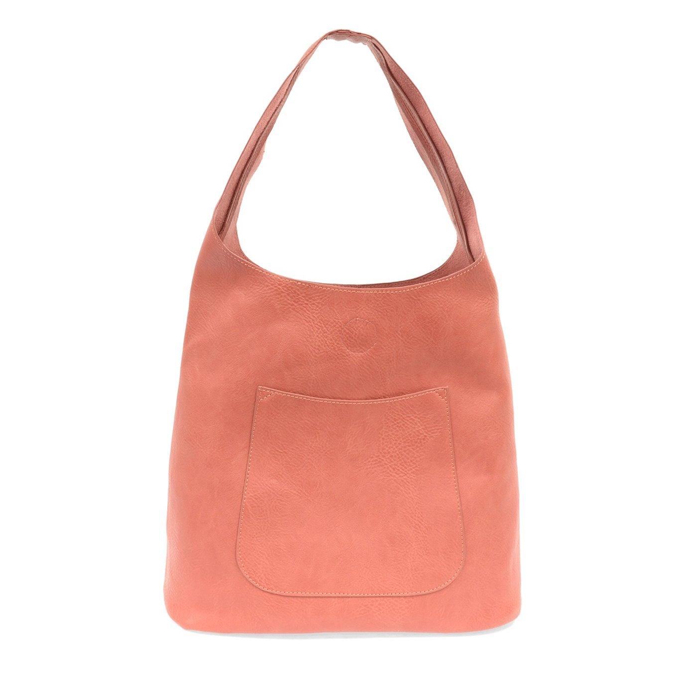 Coral Molly Slouchy Hobo Handbag