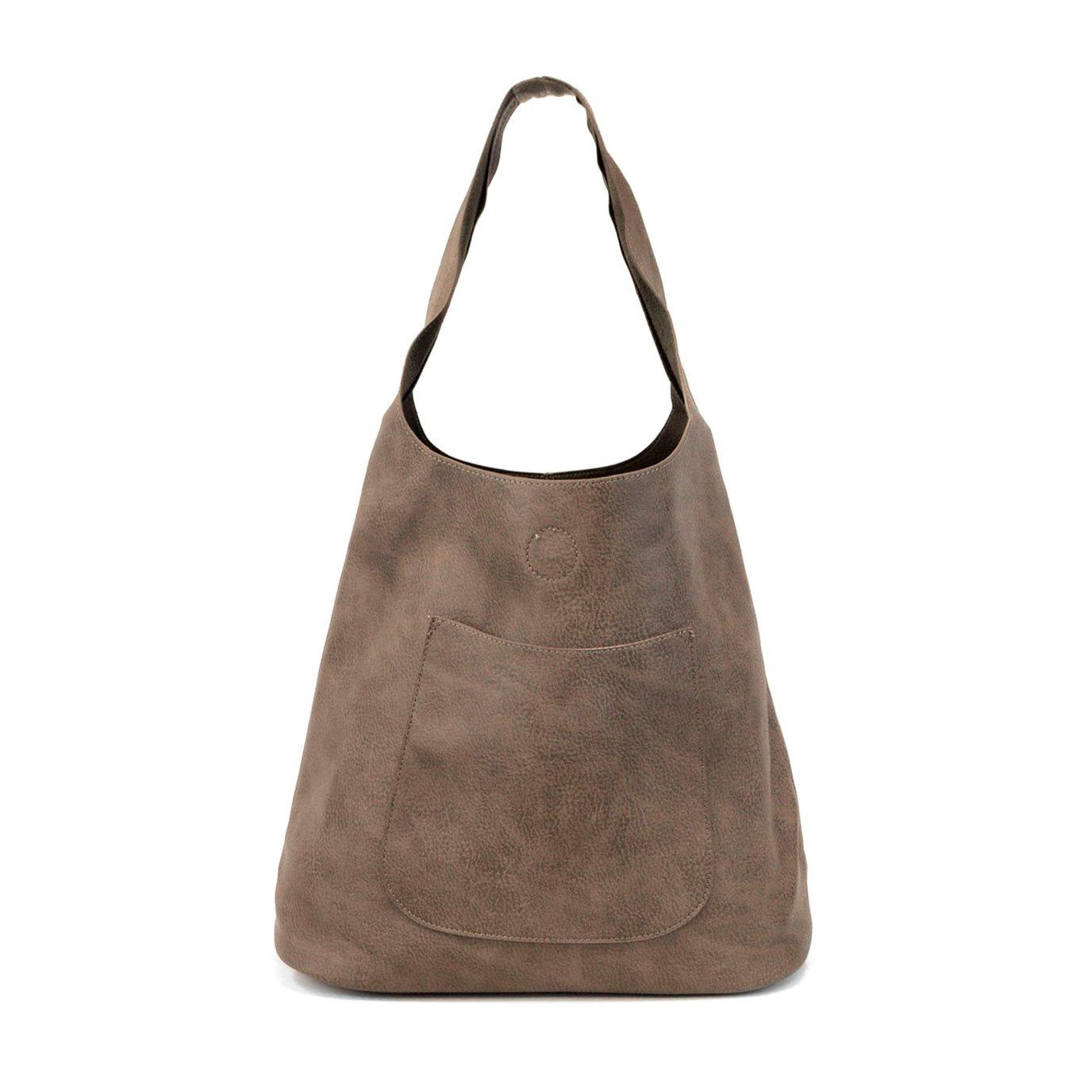 Dark Flax Molly Slouchy Hobo Handbag