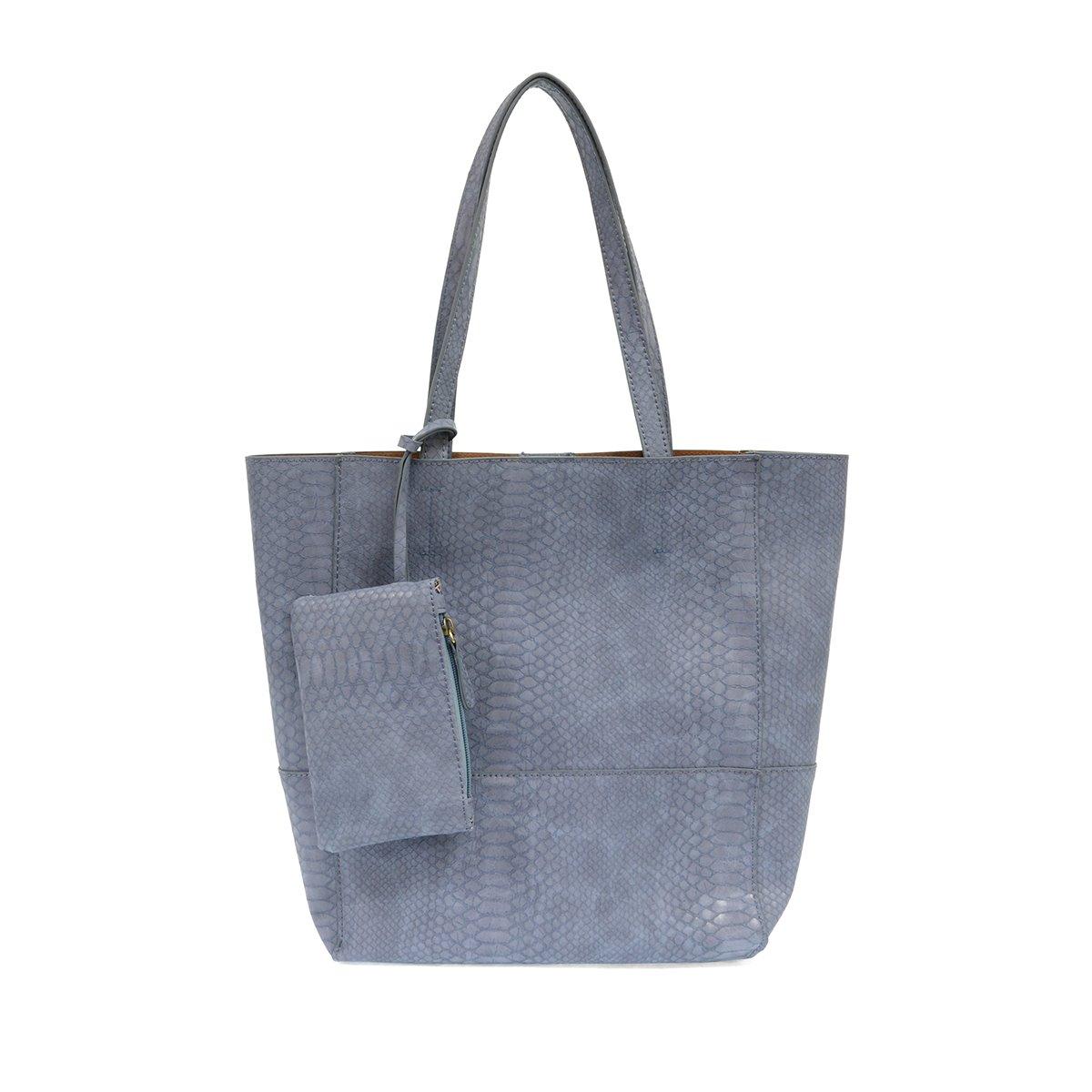 Chambray Avery Python Tote Handbag