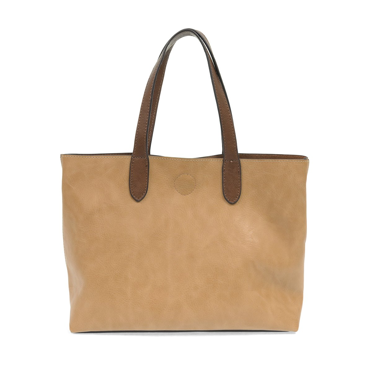 Camel Mariah Medium Handbag Tote with Coffee Handles