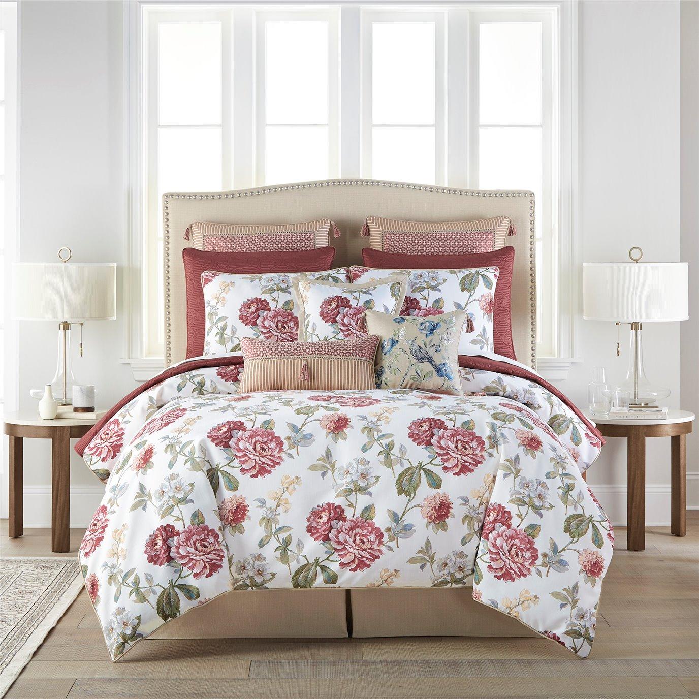 Croscill Fleur Cal King 4PC Comforter Set