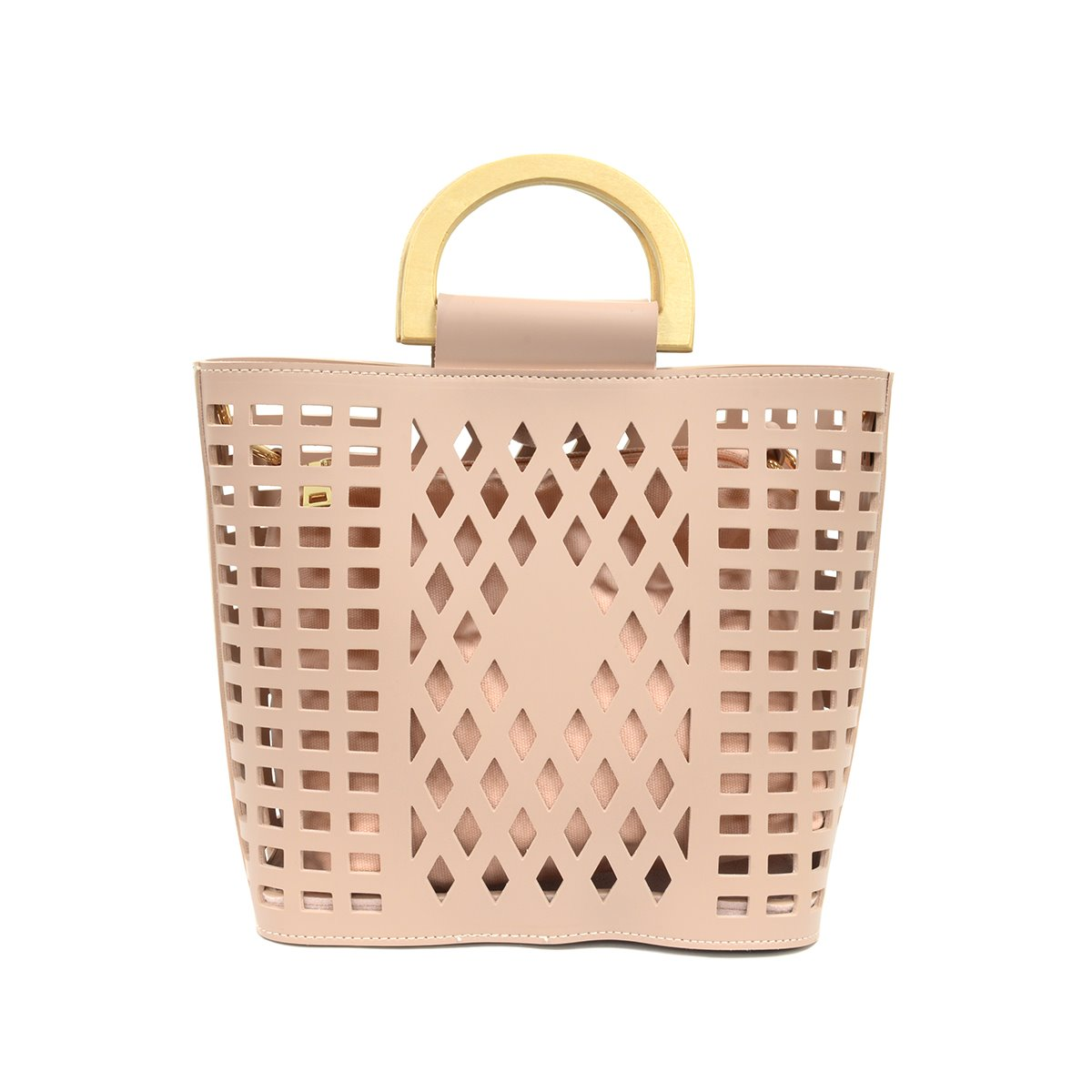 Dusty Pink Madison Cut-Out Handbag Tote
