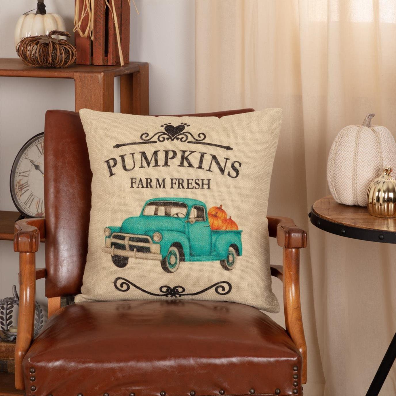 Fall on the Farm Truck Pillow 18x18