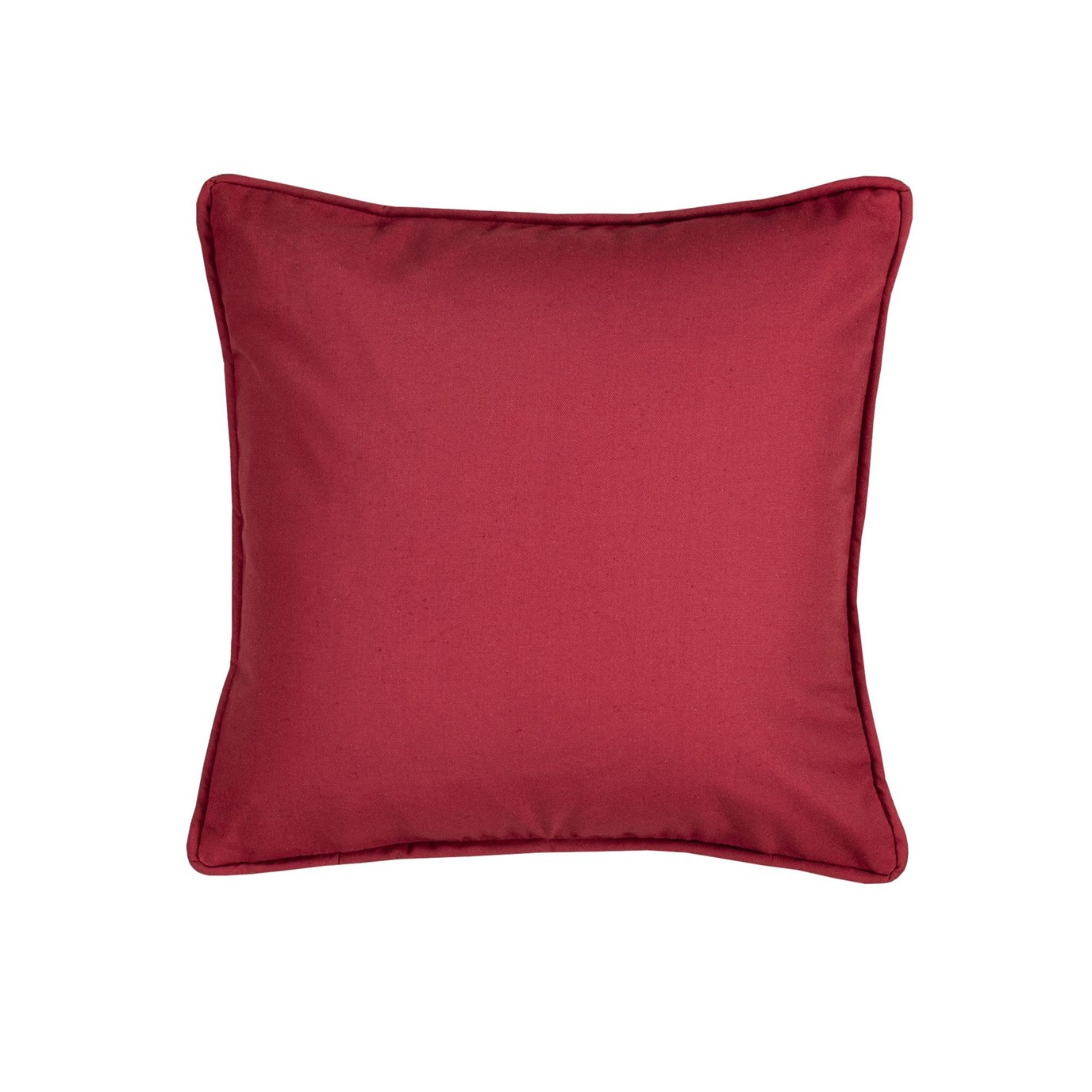 On Course Solid Red Square Pillow