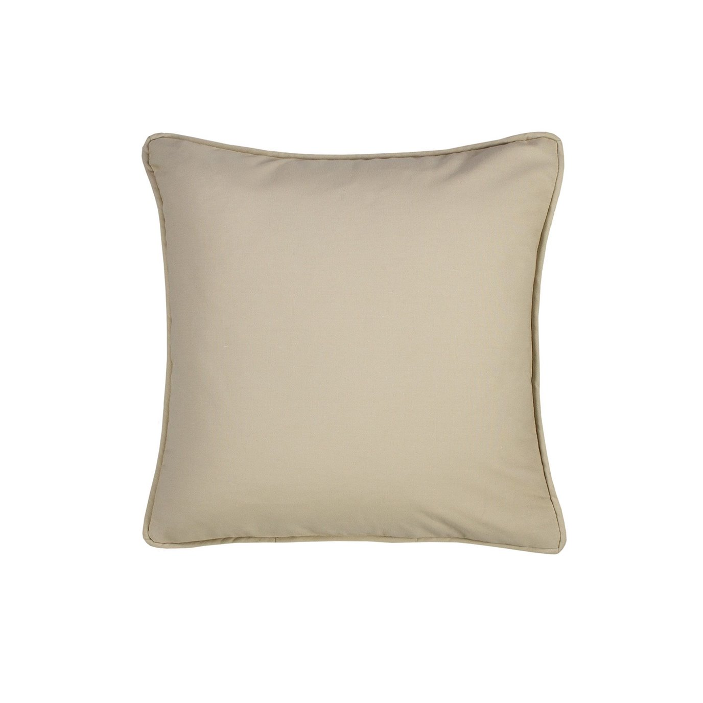 On Course Solid Tan Square Pillow