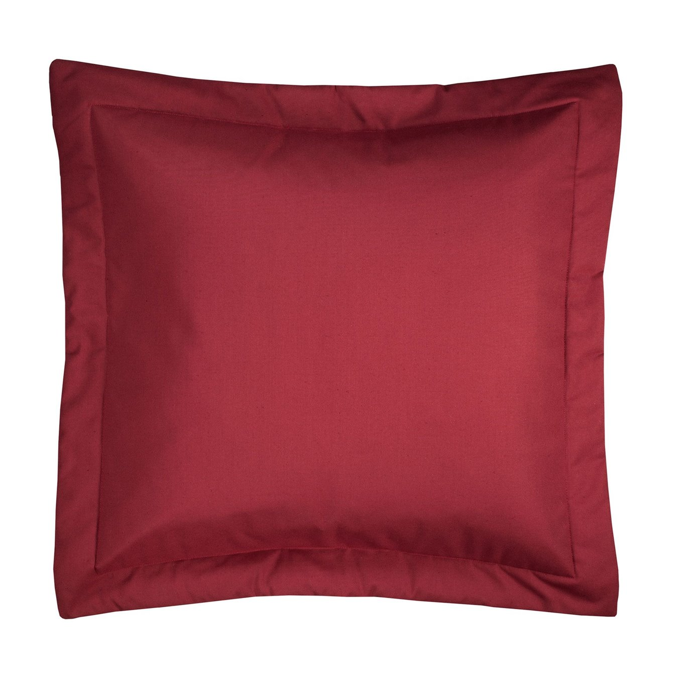 On Course Solid Red Euro Sham