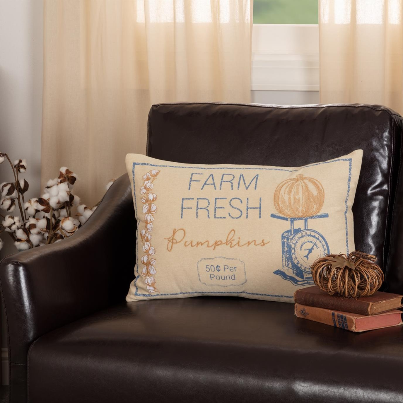 Ashmont Pumpkin Scale Pillow 14x22