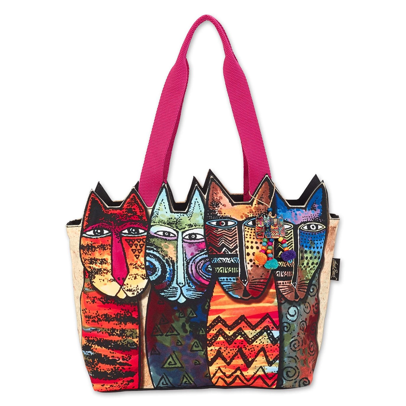 Laurel Burch Wildest Cats Large Cutout Tote