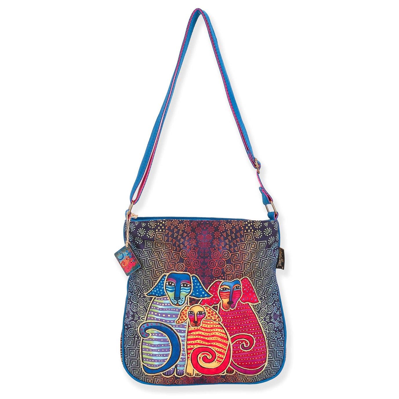 Laurel Burch Doggie Family Crossbody Bag