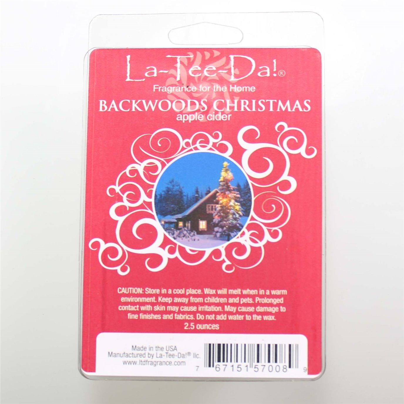 La-Tee-Da Wax Melts Backwoods Christmas - Apple Cider